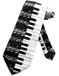 Cravate pour homme Steven Harris notes de pianos - noir et blanc - taille unique