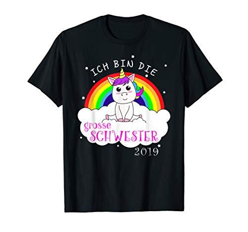 Grosse Schwester Frauen T-shirt (Ich Bin Die Große Schwester 2019 Einhorn T-Shirt)