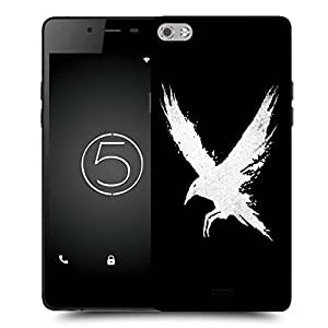Snoogg White Bird Designer Protective Back Case Cover For MICROMAX CANVAS SILVER 5