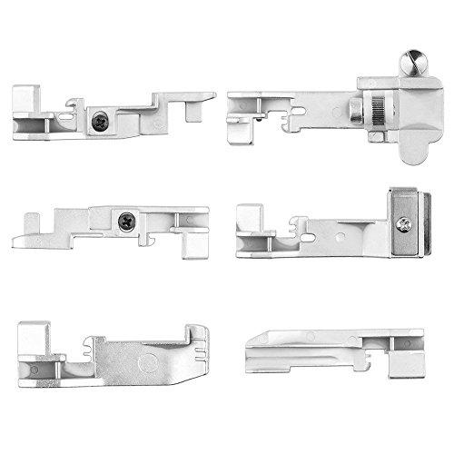 6 unids ONEVER Serger Overlock Prensatelas accesorio para pie para Singer 14CG754 14SH654 14U555 14U557 Consew Overlock Machine