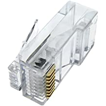 Cablematic - Conector UTP Cat.5e RJ45 macho 100 unidades