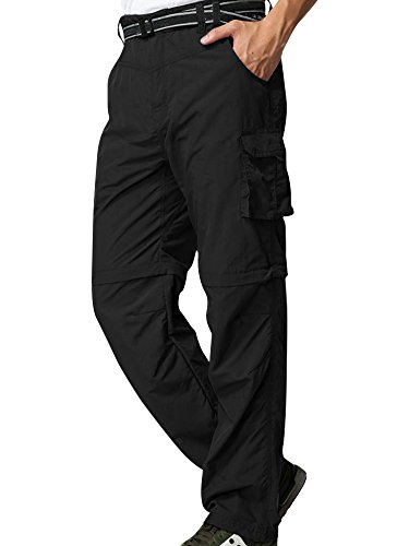 Men's finishing pants Outdoor Quick Dry Active Windproof Convertible Hiking Cargo Trouser #225