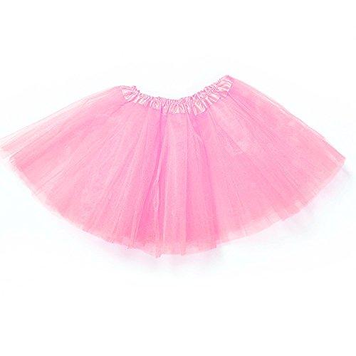 Isuper Baby Mädchen Tutu Rock, Tutu Unterrock Ballett Tanz Kurzkleid Tüllrock für Mädchen von 2 bis 8 Jahre, Rosa (Keine Hektik Kostüm)