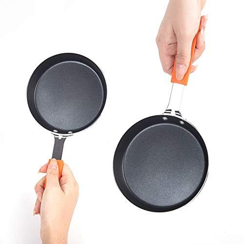 FRINGANP Bratpfanne Non-Stick Kleine Pfanne Smokeless Frühstück Omelette Pfanne Crepe Maker Bratpfanne Küche Kochen Pfanne Für Gasherd, 16 cm