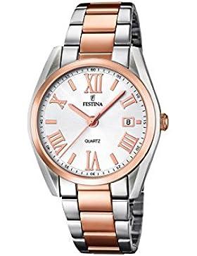 Festina Damen-Armbanduhr XS Analog Quarz Edelstahl F16795/1