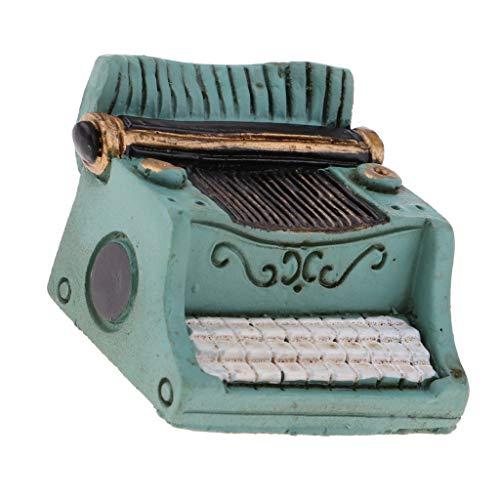 Baoblaze 1/12 Miniature Machine à écrire Meubles pour Maison de Poupée Vert