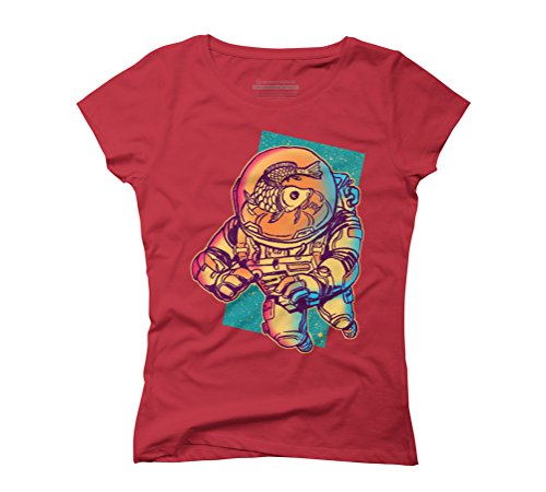 Space Diver Women's Graphic T-Shirt - Design By Humans Red