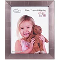 Inov8 British Made Traditional Picture/ Photo Frame A4. Pewter Silver Inset. Pack of 4, A strisce argento, 8'' x 10''