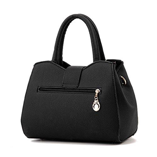 Sacchetto del messaggero delle donne di cuoio del Faux del sacchetto di spalla della borsa delle donne Grigio chiaro