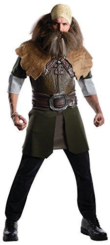 Dwalin Deluxe Herrenkostüm aus Herr der Ringe, (Zwerg Hobbit Der Kostüm)