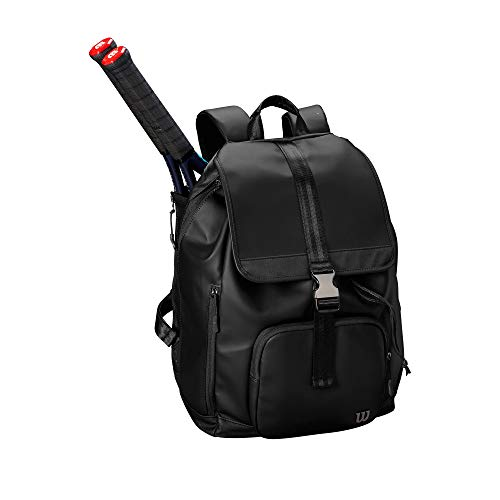 WILSON Damen Tennistasche, Damen, Women's Fold Over Backpack - Black, schwarz -