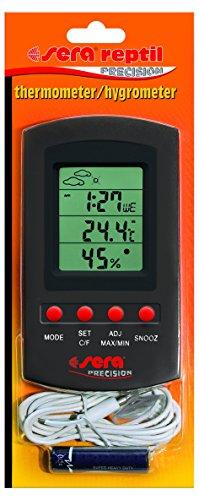 Sera 32032 reptil Thermometer/Hygrometer Ein Kombi-Gerät zur Dauermessung von Temperatur und Luftfeuchte im Terrarium mit Fernfühler