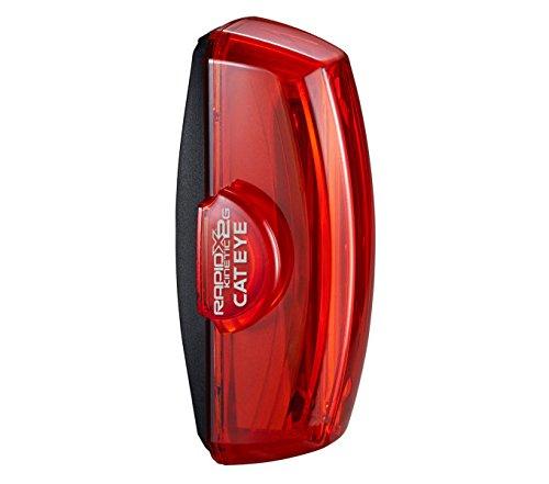 Cateye Rapid X2G Kinetic TL-LD710GK Rücklicht, schwarz/Rot, One Size (Cateye Rücklicht-halterung)