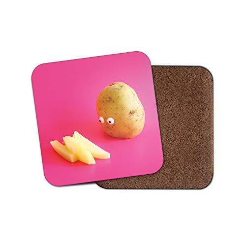 Lustige Kartoffeluntersetzer - Witz Food Chips Gemüse Büro Papa Bruder Geschenk #15264
