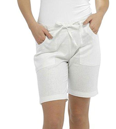 Tom Franks - Short - Uni - Femme Blanc - Blanc