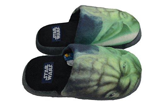 Star Wars - Zapatillas de Estar por Casa de Material Sintético Niños, Verde...