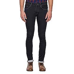 LP Jeans By Louis Philippe Mens Albert Fit Jeans (LRDN517R010770_Dark Blue Solid_34)