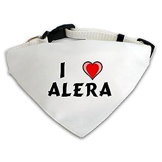 Dog Bandana with I love Alera (first name/surname/nickname)