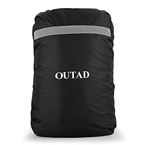 OUTAD Waterproof Backpack Rain Cover 55-80L Protable Oxford fabric Rain Cover Travel Rain Bag Dust With Reflective Strip Rain Proof Cover Dust Bag for Outdoor Living Climbing Hiking Black