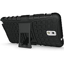 FALIANG Samsung Galaxy Note 3 Funda, 2in1 Armadura Combinación Neumáticos Patrón A Prueba de Choques Heavy Duty Escudo Cáscara Dura para Samsung Galaxy Note 3 (Negro)