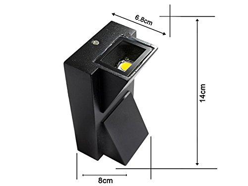 Applique led doppia emissione watt lampada moderna a parete per