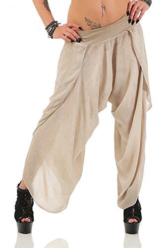 Damen Harem Aladin Pump Hose Hosenrock ( No 540), Beige