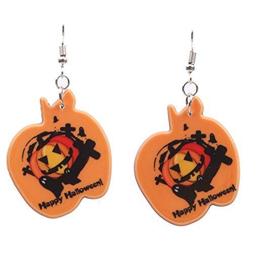 1 Paar Halloween Ohrringe Halloween Kürbisse Pandent Ohrring-Frauen -