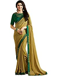 aafd8cb87e Rudra Fashion Women's Hand Print + Stone Work Mix Saree With Unstitched  with Blouse Piece