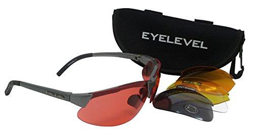 Marksman shooting/occhiali di sicurezza 5colori intercambiabili infrangibile lenti uv400