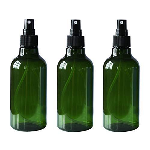 3 flaconi vuoti da 250 ml plastica ricaricabili nebulizzatori sottili con spruzzatore nero e coperchio trasparente per profumo Pure Dew