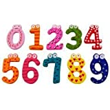 Kuhu Creations® Supreme Educational Cartoon Wooden Fridge Magnet Stickers. (Wooden Numbers, 10 Pcs)