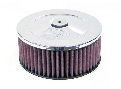 K & N 60–1020rund Air Filter Assembly 2–5/16flg; 17,8cm D; 10,2cm H ASSY. W/Vent (echtes KN Zubehör)