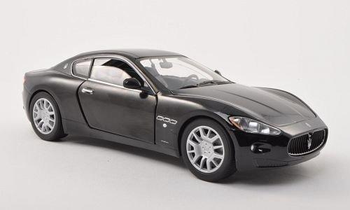 maserati-gran-turismo-nero-0-modello-di-automobile-modello-prefabbricato-motormax-124-modello-esclus