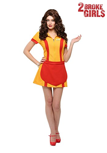 Plus Size Two Broke Girls Waitress Fancy dress costume (Kostüme Kids Size Plus)