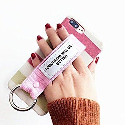Hülle für iPhone 7 plus , Schutzhülle Für iPhone 7 Plus Grid Pattern Canvas Schutzmaßnahmen zurück Fall mit morgen wird besser sein Red Wristband ,hülle für iPhone 7 plus , case for iphone 7 plus ( SK Ip7p0348c