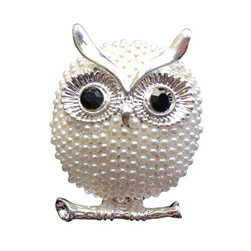 qhtongliuhewu - Deodorante per Auto a Forma di Gufo con finte Perle, 4 x 3,2 cm (Circa)