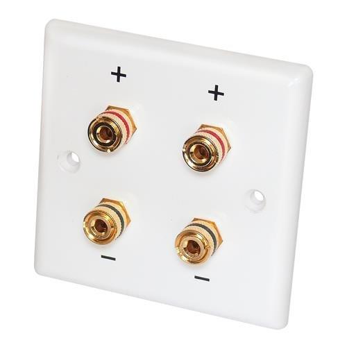 Dynavox Lautsprecher Wandeinbaudose 2-fach, weiß für 2 Lautsprecher