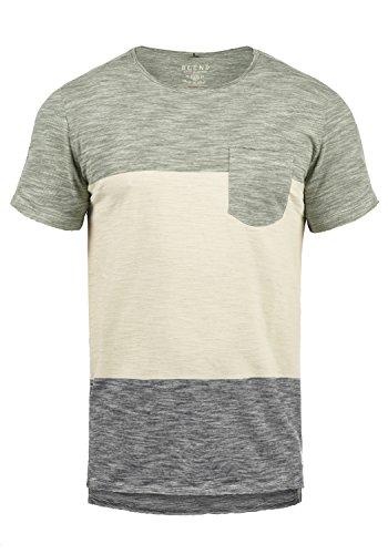 Blend Johannes Herren T-Shirt Kurzarm Shirt Mit Rundhalsausschnitt Aus 100% Baumwolle, Größe:XXL, Farbe:Dusty Olive Green (77203) - 100% Baumwolle Henley