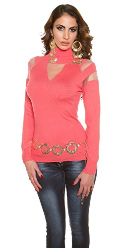 In-Stylefashion - Pull - Femme rouge rouge clair taille unique rouge clair