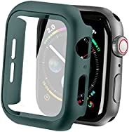 Compatible with Apple Watch Case with Screen Protector, Full Protective Cover Case Hard PC Bumper