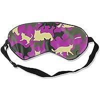 Preisvergleich für Natural Silk Eyes Mask Sleep Camouflage Animal Cat Blindfold Eyeshade with Adjustable for Travel,Nap,Meditation...