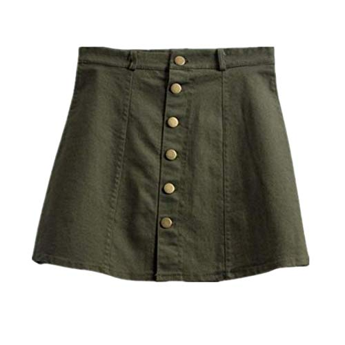 NEEKY Petticoat Skirt Damen Latz Rock Trägerrock Jeans Optik - Damenmode Taillenrock Korean Style Denim Rock