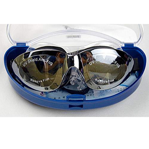 High-End-Professionelle große Rahmenbeschichtung Wasserdichte Anti-Fog-Brille Unisex Flache Brille Boxed Schwimmbrille