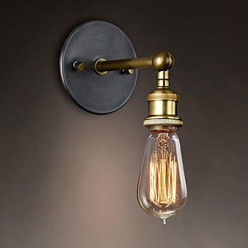 Cozyle Lámpara de pared de metal del cobre de la vendimia sin Industrial Pantalla Cobre