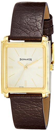 41xHYD5esYL - Sonata 7053YL10 Champagne Mens watch