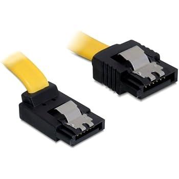 Delock SATA Cable 6Gb//s Down//Down Metal Yellow 20cm