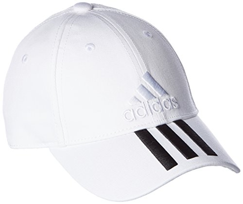 adidas Damen 6 Panel Classic 3-Stripes Cotton Kappe White/Black OSFW