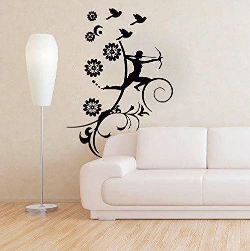 Pbldb Wandtattoo Mädchen Vogel Armbrust Aufkleber Vinyl Aufkleber Schlafzimmer Home Art Decor37X51Cm