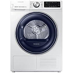 Samsung DV90N62632W Autonome Charge avant Blanc 9 kg A+++ - Sèche-linge (Autonome, Charge avant, Pompe à chaleur, Blanc, Rotatif, Tactil, Droite)
