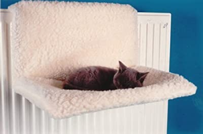 Petlicity ® Warm and Cosy Pet Cat and Dog Radiator Bed - Strong and Durable Hanging Hammock Style Radiator Cradle Bed for Small Pet Cat Kitten Puppy Dog with Soft Machine Washable Cover and Collapsible Frame for Easy Storage